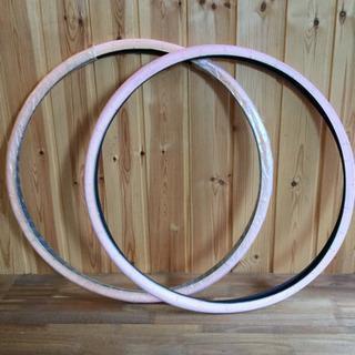 700x28c ピンク カラータイヤ 2本セット