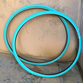 700x28c ブルー カラータイヤ