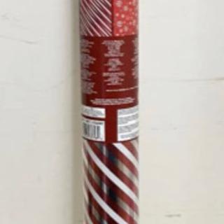 クリスマス ラッピングペーパー 36m 赤 スノーフレーク