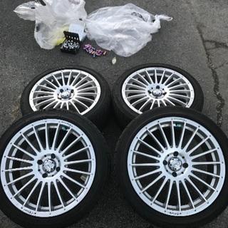 レイズ ベルサス17インチ 美品国産タイヤ付き4本即発送