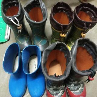 長靴5月末処分予定です。