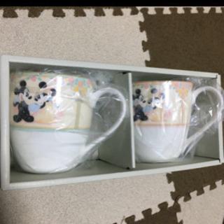 【新品】大きめディズニーペアマグカップ