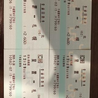 JRきっぷ「札幌星置12/29」