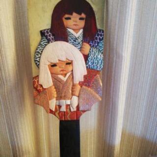 正月 木彫り 羽子板 貰って下さい