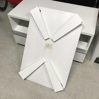 白い折りたたみローテーブル - 売ります・あげます