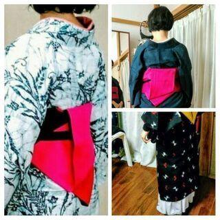 キモノ生活応援!プラスワン仕立て着物&帯の作り方と着方の教室♪