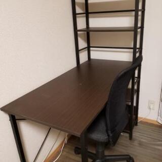 ★無料!単品可★書棚付き学習机、チェアー、チェアーマット