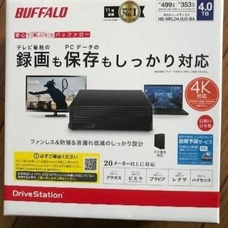 バッファロー 外付けハードディスク 4TB