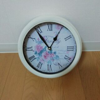 アンティーク バラ柄 掛け時計