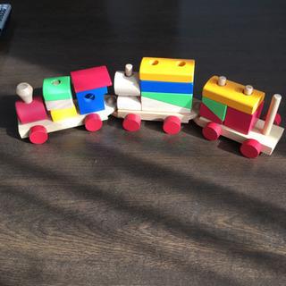 木製積み木 汽車