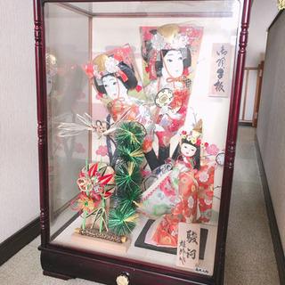 お正月飾り 日本人形 羽子板