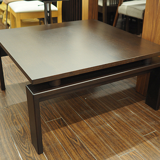 札幌 ウサミ木工 センターテーブル 80×80 ブラウン 引取歓迎