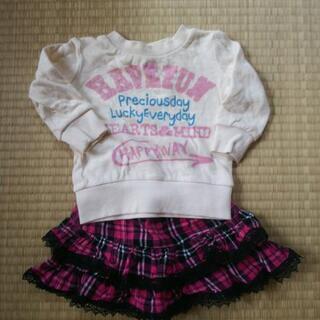 ベビー服 サイズ80 女の子 冬物 大量 セット - 子供用品