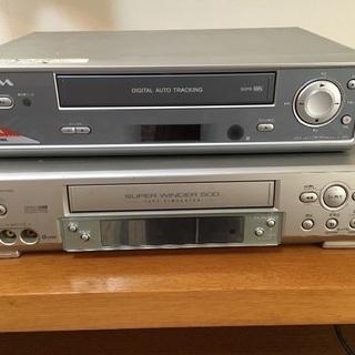 2台セット ビデオカセットレコーダー