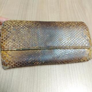 ヘビ皮長財布