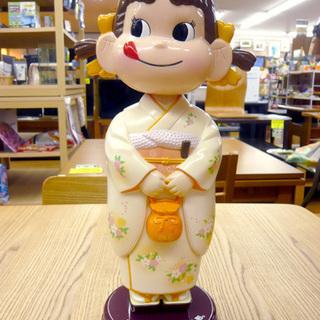 ぺこちゃん 振り袖姿 首振り人形 約34.5cm 西岡店