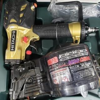 【中古美品】 日立 高圧式 90㎜ 釘打ち機 NV90HMC