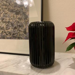 黒ガラス製フラワーベース 2個セット