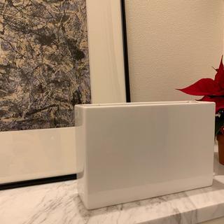 白陶器製四角フラワーベース