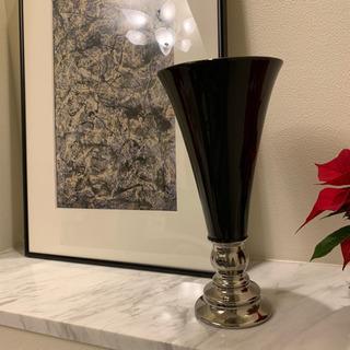 黒陶器フラワーベース2個セット