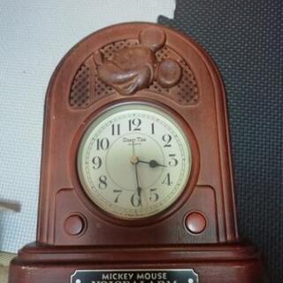 最終値下げ!日本製正規品超レア品ミッキーマウス置時計 ボイスアラ...