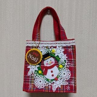クリスマス③ スノーマン バッグ