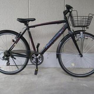 〔中古〕通勤、通学用クロスバイク(シマノ製7段変速、前カゴ、ライ...