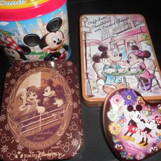 ディズニー 空き缶4個 バレンタイン ホワイトデー クリスマスに