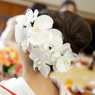 結婚式、成人式に!胡蝶蘭ヘッドドレス