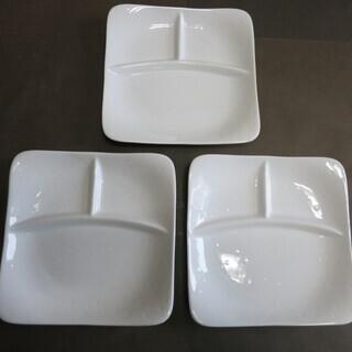 ランチ皿 ランチプレート 磁器 21.8×21.8cm 1~3枚まで