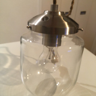 ※再々値下げ※グラスドーム ペンダントライト  ガラス  照明 ...