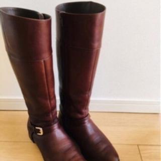 本革ブーツ ブラウン22.5cm【asics walking ...