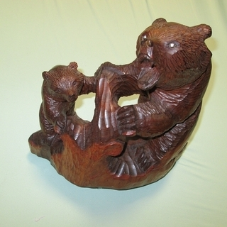 熊の置物 アイヌ土産品 骨董 北海道木彫りの熊