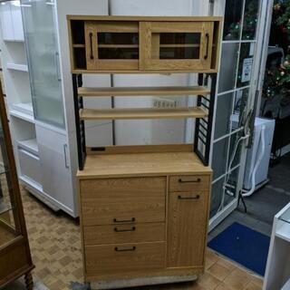 レンジボード キッチンボード 食器棚 キッチン収納 (幅90c...