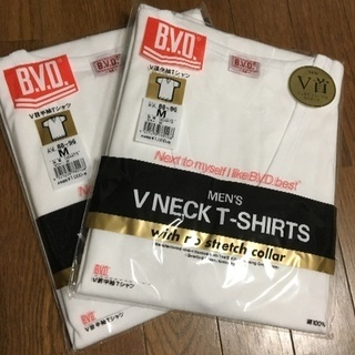 BVD  V首半袖Tシャツ  インナー  Mサイズ  2枚組