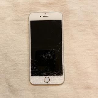 iphone6 SIMフリー 16GB シルバー ジャンク 画面割れ