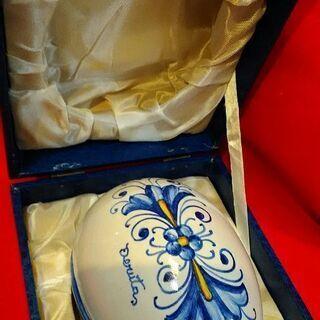 デルタ 卵型蓋付き 宝石箱 ジュエリーボックス