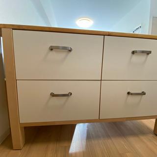 IKEA キッチンカウンター レール収納付き