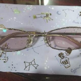 度入り眼鏡 薄ピンク -1.5~2.0