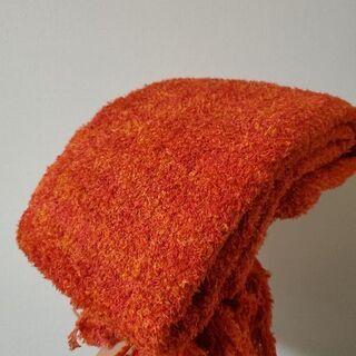 【新品】とろろ昆布の様な柔らかブランケット4【赤っぽいオレンジ】