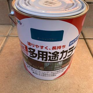 オーシャンブルー ペンキ アサヒペン 油性塗料