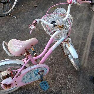 16インチ女の子用自転車売ります