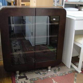 2ドア 食器棚 キッチンボード 飾り棚 ダイニングボード 収納 ...