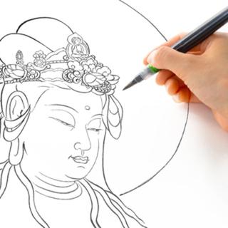 【初回無料】[12月21日]仏画なぞり描きでマインドフルネス体験...