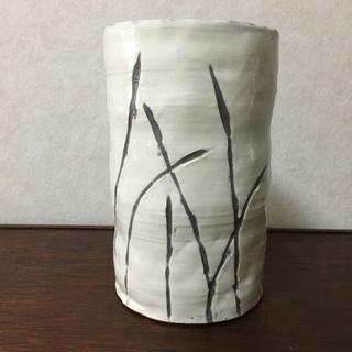 ハンドメイド 陶製 花瓶