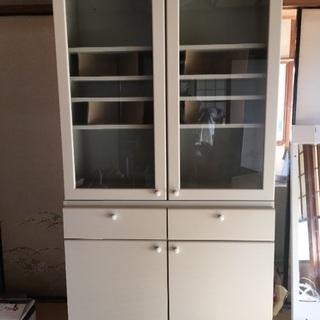 新品!TOTO 食器棚 白 デッドストック 引き出し戸棚