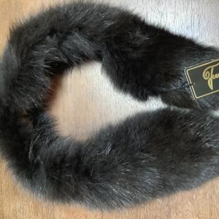 ブルーフォックスの毛皮ショール  未使用 タグ付き