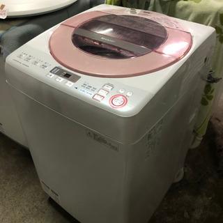 2015年製SHARP全自動電気洗濯機ES-GV80R