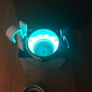 ステンレス製 ドリンクホルダー  LEDランプ付き 2個セット