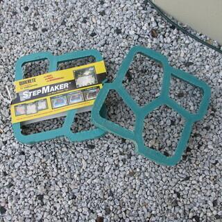 DIY 西洋風の小道 型取り・ ウォークメーカー ブリック